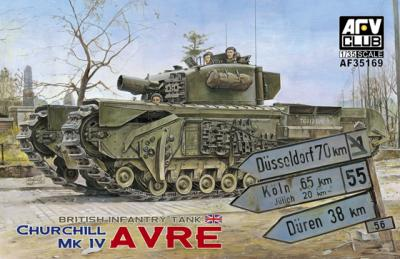 1:35 AFV British Infantry Tank Churchill MK IV AVRE