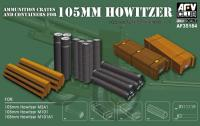 1:35 Ammunition Crates and Containers for 105mm Howitzer