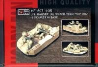 "1/35 U.S. RANGER (III) SNIPER TEAM ""OIF"" ISAF-2 FIG W/BASE"