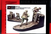 1/35 U.S. MARINES INFANTRY PACIFIC W/BASE-2 FIGURES